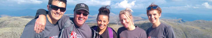 Grimsby staff raised over £650 for two local hospices after tackling the demanding Scafell Pike challenge.
