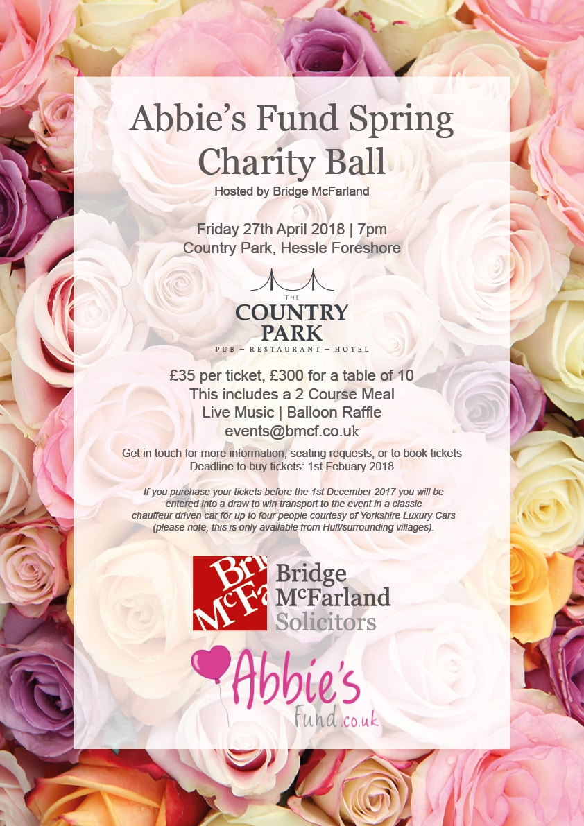 Abbie's Fund Spring Charity Ball - hosted by Bridge McFarland